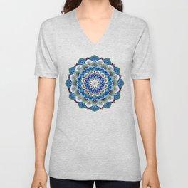 MauindiArts Virtue Mandala Print Unisex V-Neck