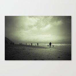 Zombie Apocalypse: The Beach Canvas Print