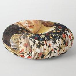"Sandro Botticelli ""Primavera"" Flora Floor Pillow"