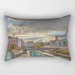 Foot Bridge at Gas Street Basin Rectangular Pillow