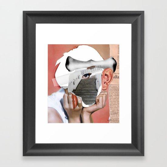 Audrey 3 Collage Framed Art Print