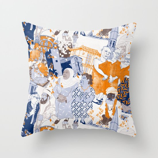 THE SACRED CITY Throw Pillow