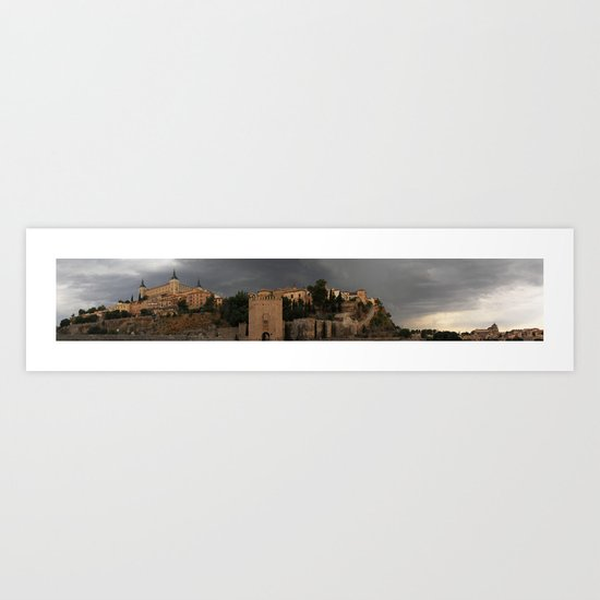 Toledo before the storm Art Print