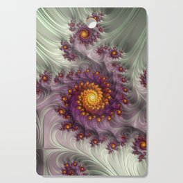 Saffron Frosting - Fractal Art Cutting Board