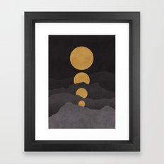 Rise of the golden moon Framed Art Print