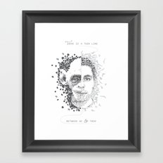 Thin line Framed Art Print