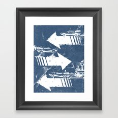Back to the Future Minimalist Poster Framed Art Print