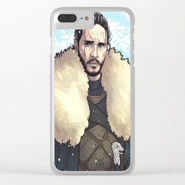 White Wolf Clear iPhone Case