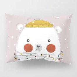 Christmas Animals - Festive Polar Bear Pillow Sham