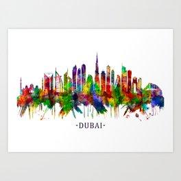 Dubai United Arab Emirates Skyline Art Print