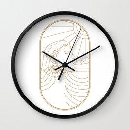 Girl Art Deco 02 Wall Clock