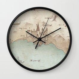Map of Hogwarts Wall Clock