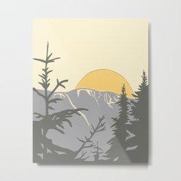 Ski Mountain Sun and Trees - Breckenridge  Metal Print