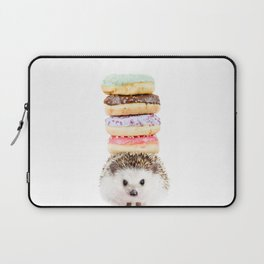 Hedgehog Donuts Laptop Sleeve
