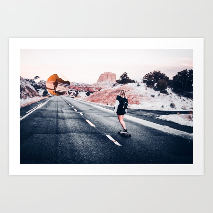 chase your dreams 2 Art Print