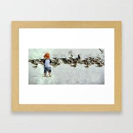 Bird Play Framed Art Print