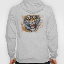 Tiger Roaring Wild Jungle Animal Hoody