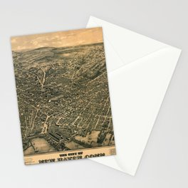 Map Of New Haven 1879 Stationery Cards