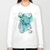 octopus Long Sleeve T-shirts featuring Octopus by Emily Golden