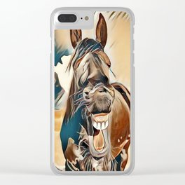 Laughing Jack Clear iPhone Case