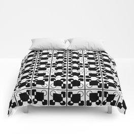 BW-pattern 2 Comforters