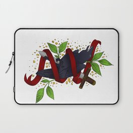 The Raven and the Sword Laptop Sleeve
