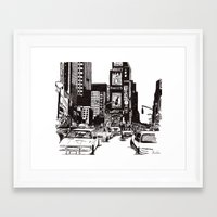 new york Framed Art Prints featuring New York New York by Bianca Green