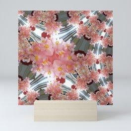 Peach Flower Curves - Abstract Floral Art by Fluid Nature Mini Art Print