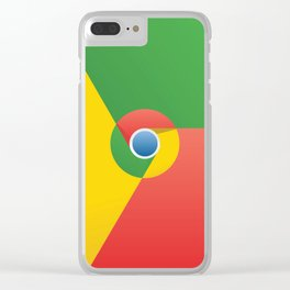 Chrome - Graphic Art - Style - 1 Clear iPhone Case
