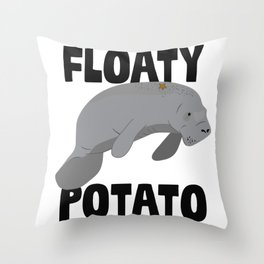 Floaty Potato Throw Pillow