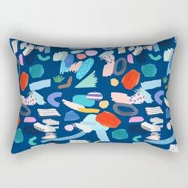 """Save The Earth"" Colourful Contemporary Art Rectangular Pillow"