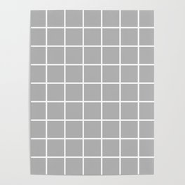 grey cube Poster