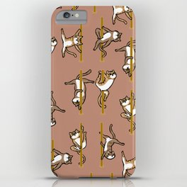 Cats Pole Dancing Club iPhone Case