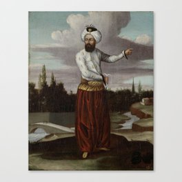 A Chaous, a Courier to the Sultan, Jean Baptiste Vanmour, 1700 - 1737 Canvas Print
