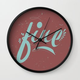 FINE & Marsala Wall Clock