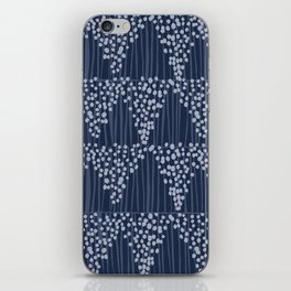 Dots + Stripes - Indigo iPhone Skin