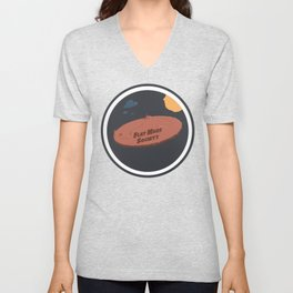 Flat Mars Society Unisex V-Neck