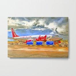 Pop Art Airliner Metal Print