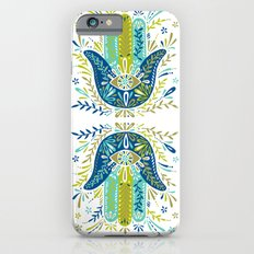 Hamsa Hand – Lime, Turquoise & Navy Palette iPhone 6s Slim Case