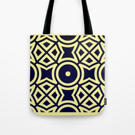Composition in Texas Yellow and Stratos Blue Tote Bag