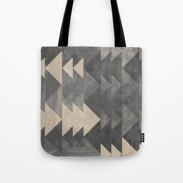 Geometric triangles abstract pattern - Gray tones & Beige Tote Bag