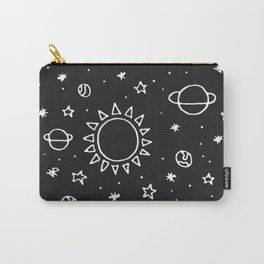 Planets Hand Drawn Carry-All Pouch
