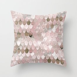 SUMMER MERMAID NUDE ROSEGOLD by Monika Strigel Throw Pillow