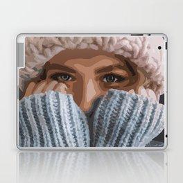 Girl with ice blue eyes! Laptop & iPad Skin