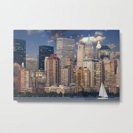 Downtown NYC at twilight Metal Print