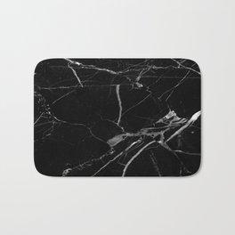 modern black marble look Bath Mat