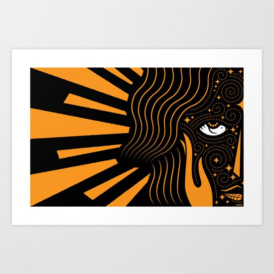 Her Beloved is Radiant Art Print