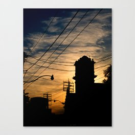Firehall Sunset Canvas Print