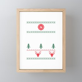 Ugly Christmas product Design For A Firefighter print Framed Mini Art Print