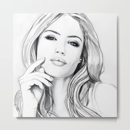 Xenia Tchoumitcheva Portrait of an angel with a frame Metal Print